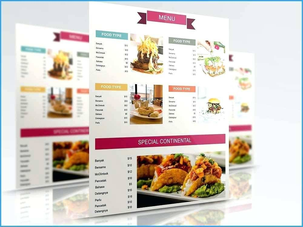 Indian Restaurant Menu Layout