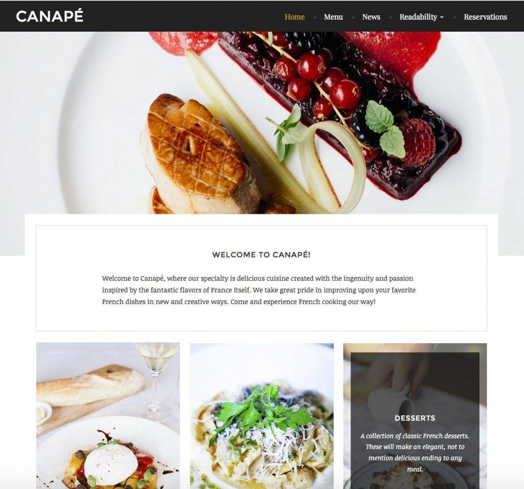 Indian Restaurant Website Templates Free Download