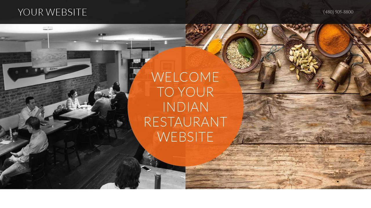 Indian Restaurant Website Templates