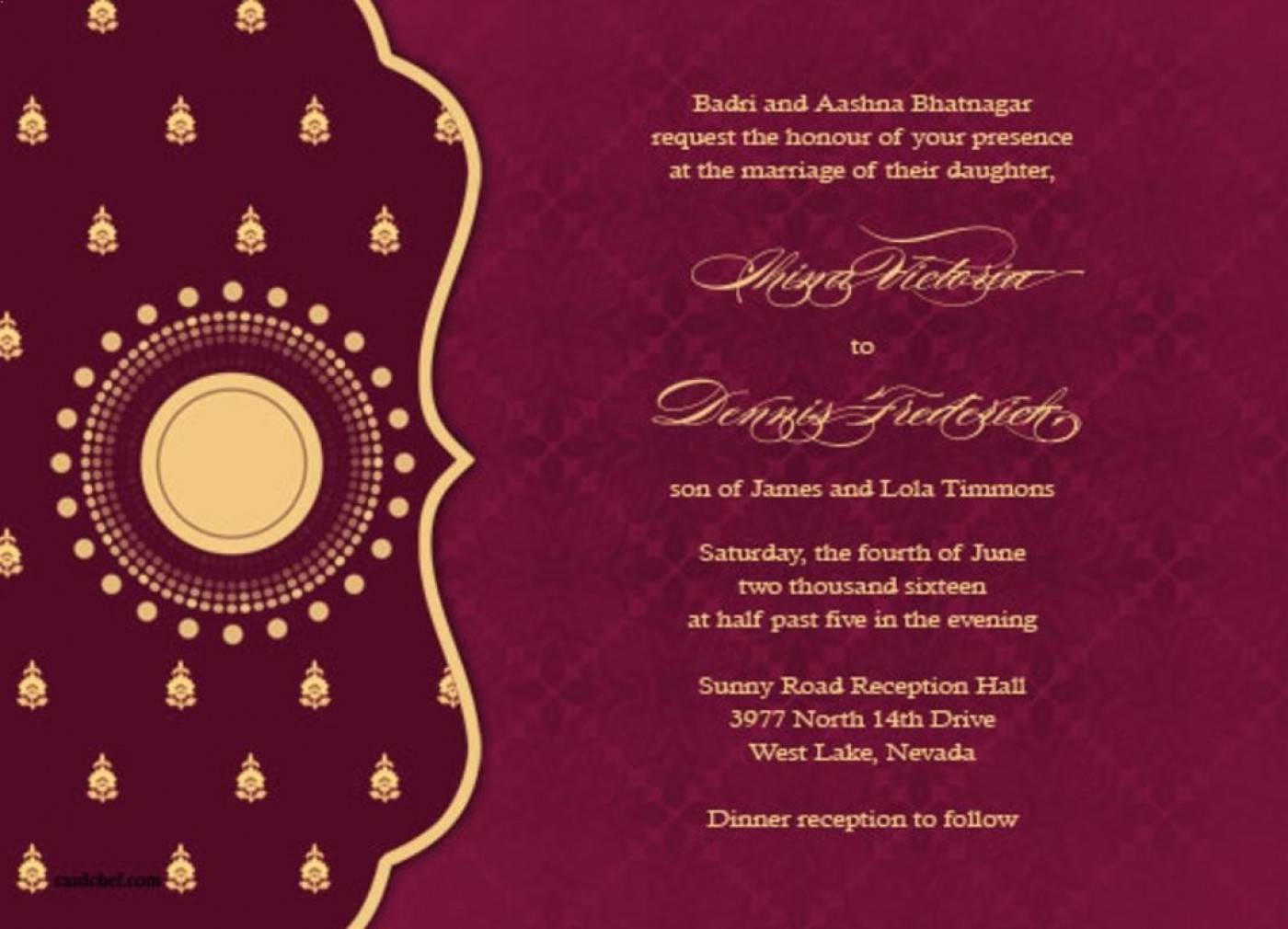 Indian Wedding Invitation Templates Free