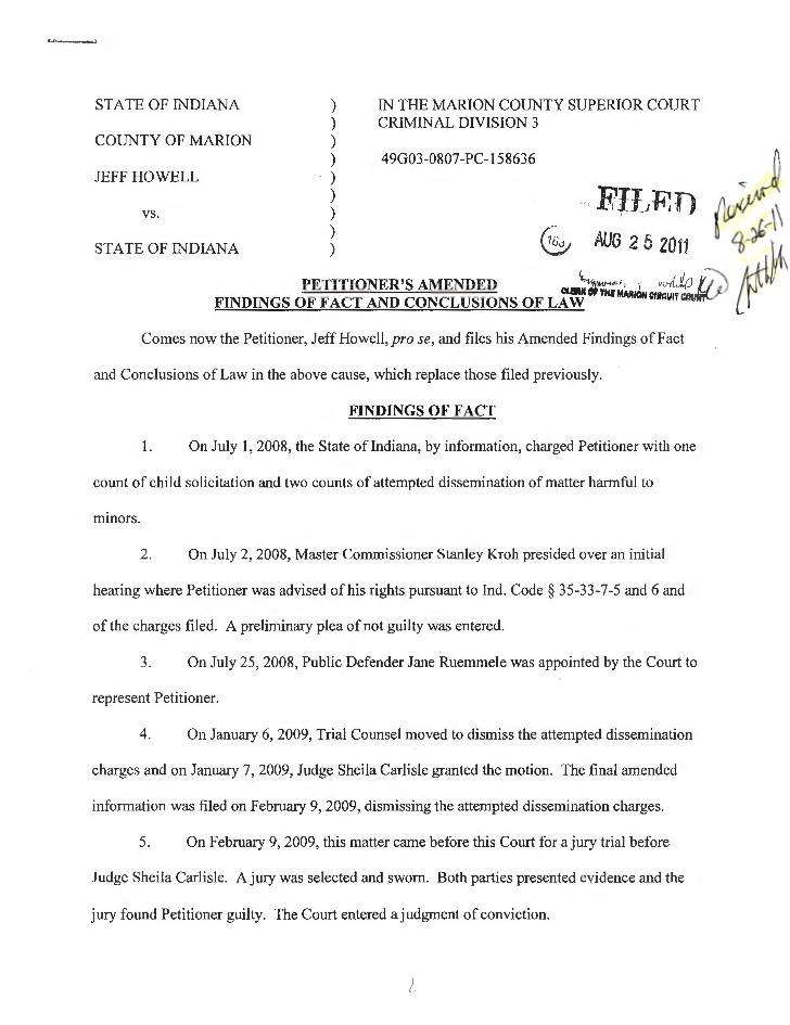 Indiana Court Motion Template
