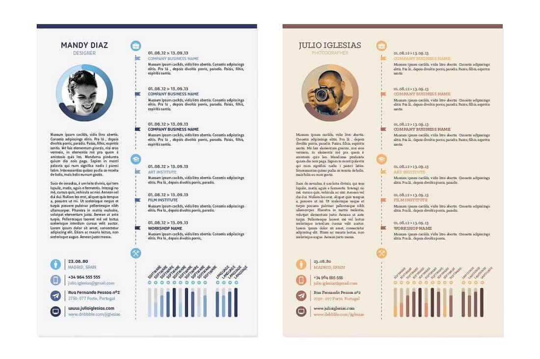 Infographic Cv Template Doc