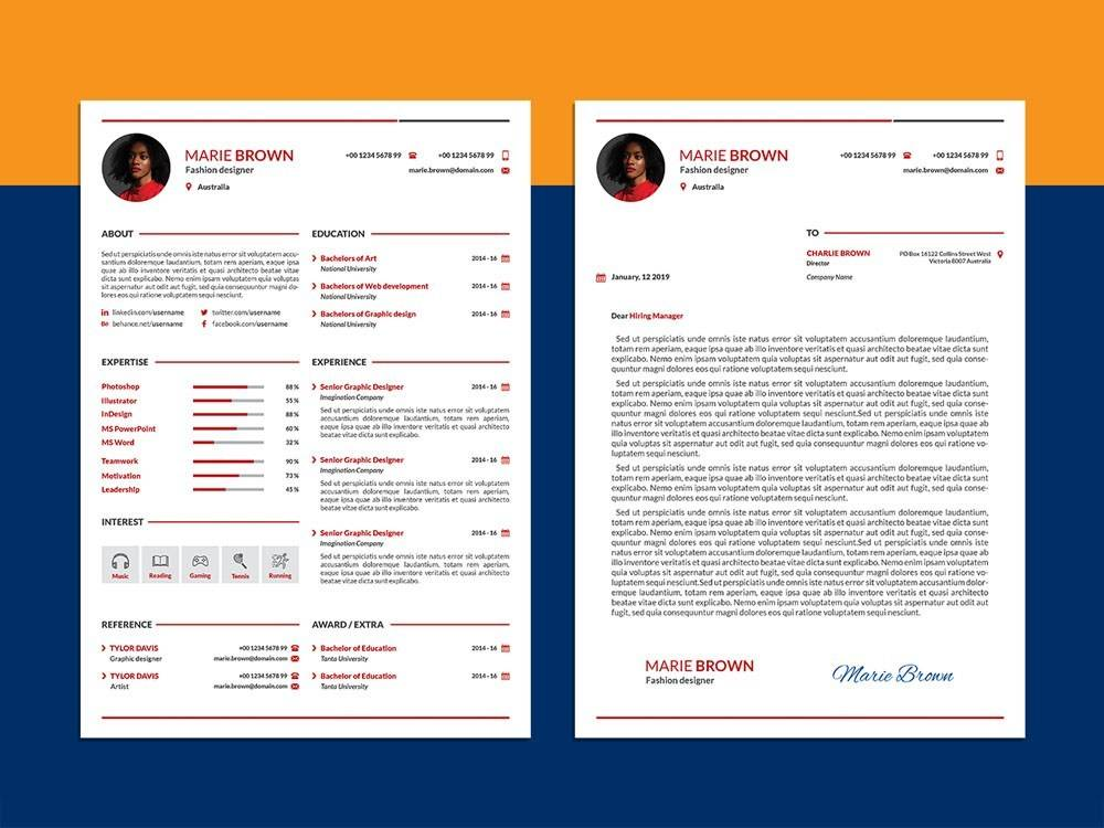 Infographic Cv Template Free