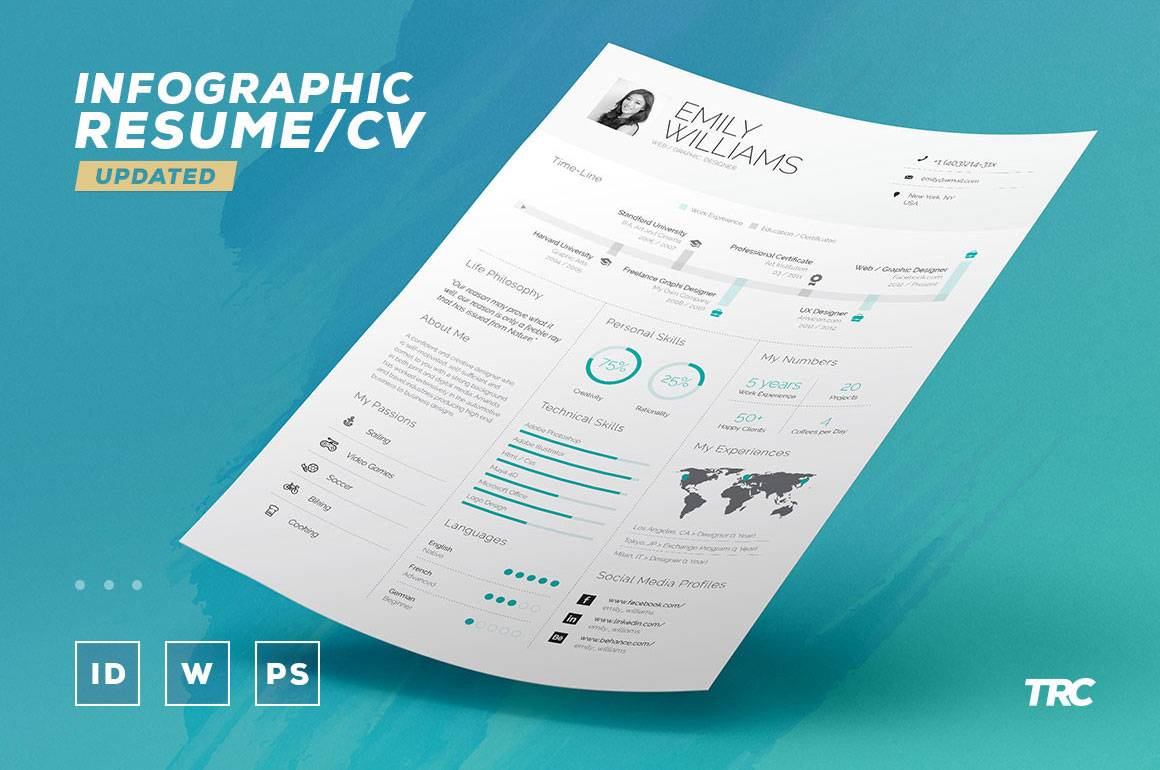 Infographic Cv Template Pdf