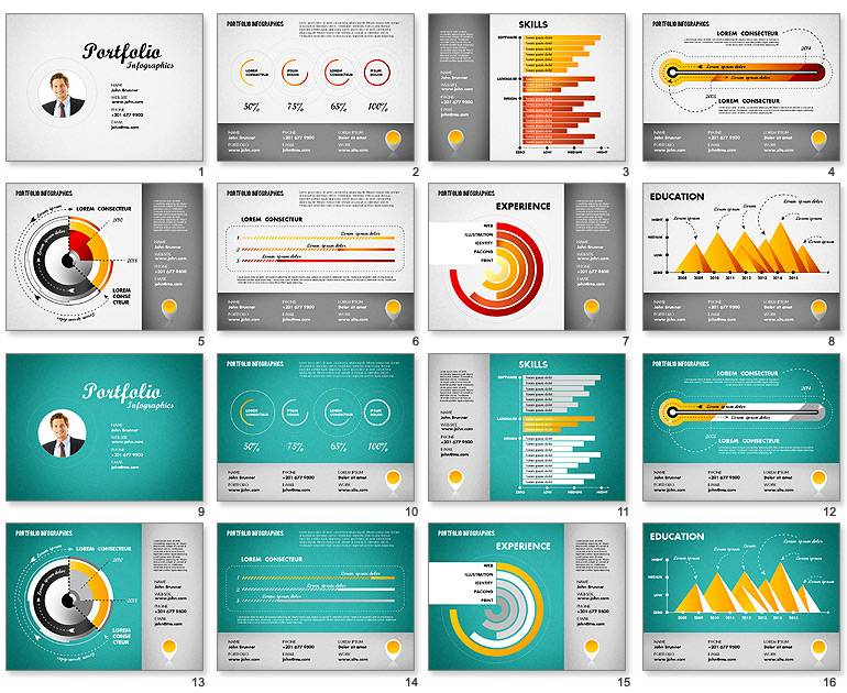 Infographic Resume Powerpoint Template