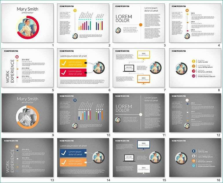 Infographic Resume Template Powerpoint Free Download