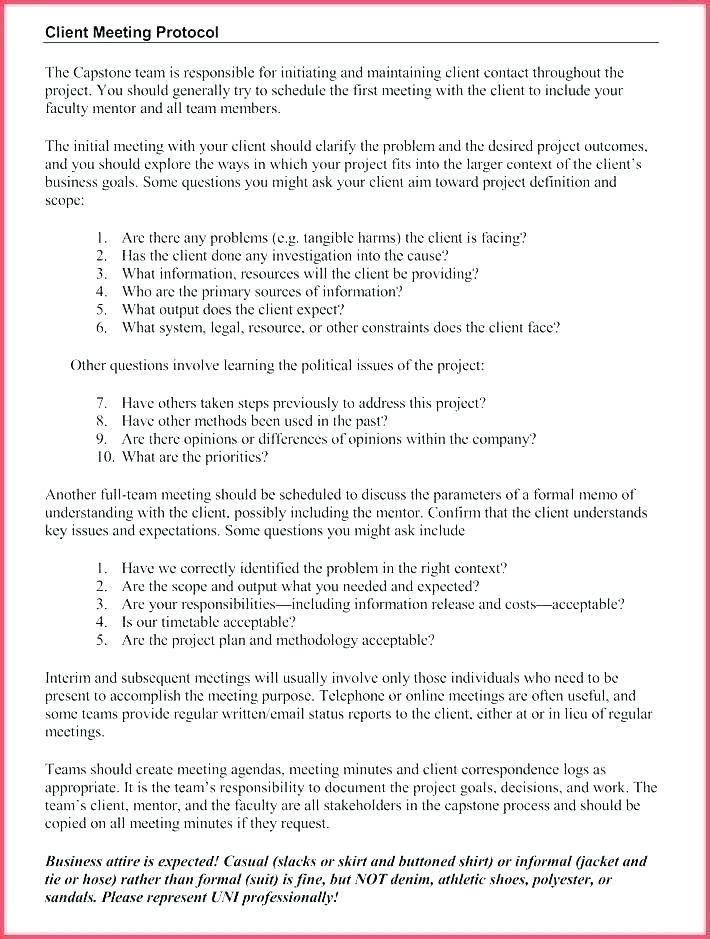Informal Meeting Minutes Template Doc