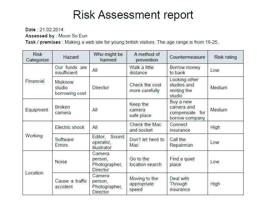 Information Technology Audit Risk Assessment Template
