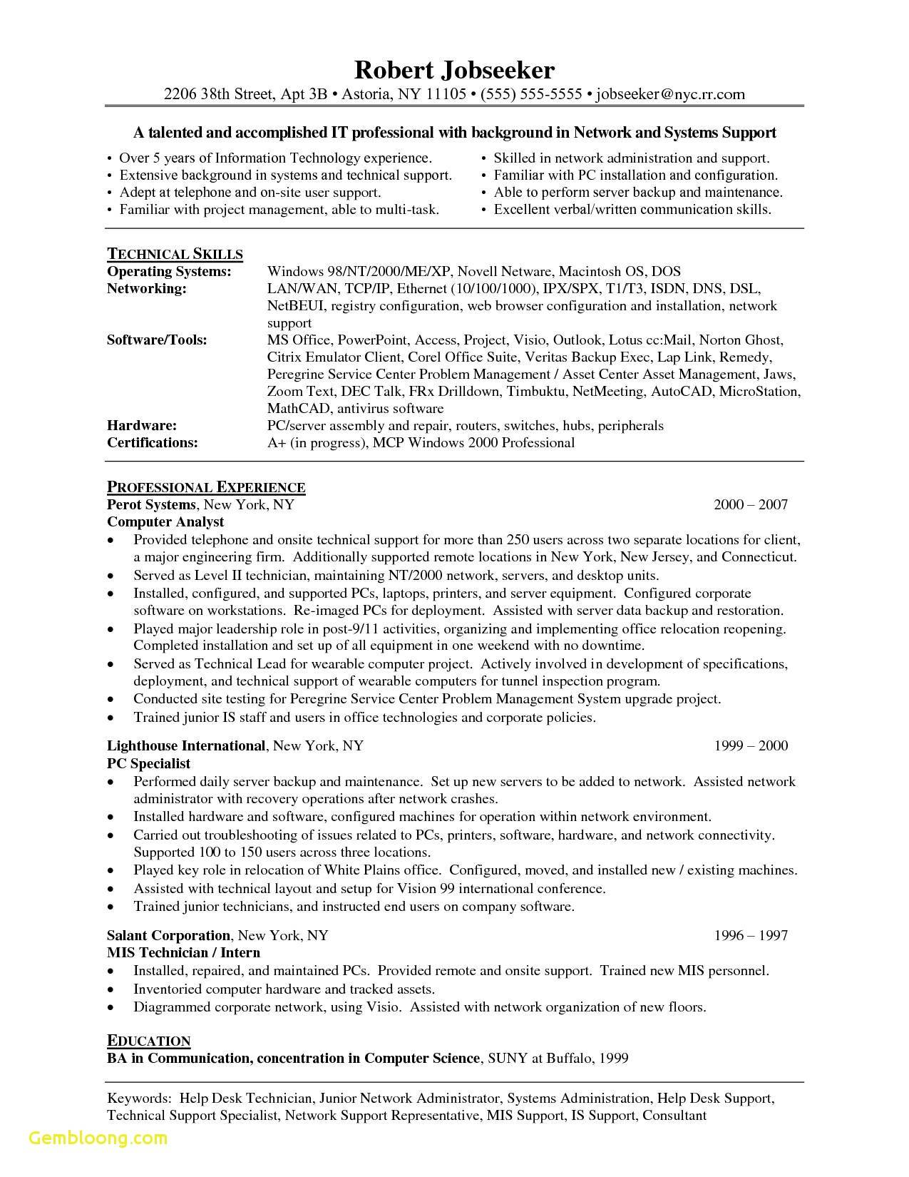 Information Technology Resume Templates Microsoft Word