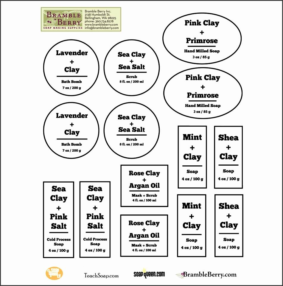 Ingredient Label Template