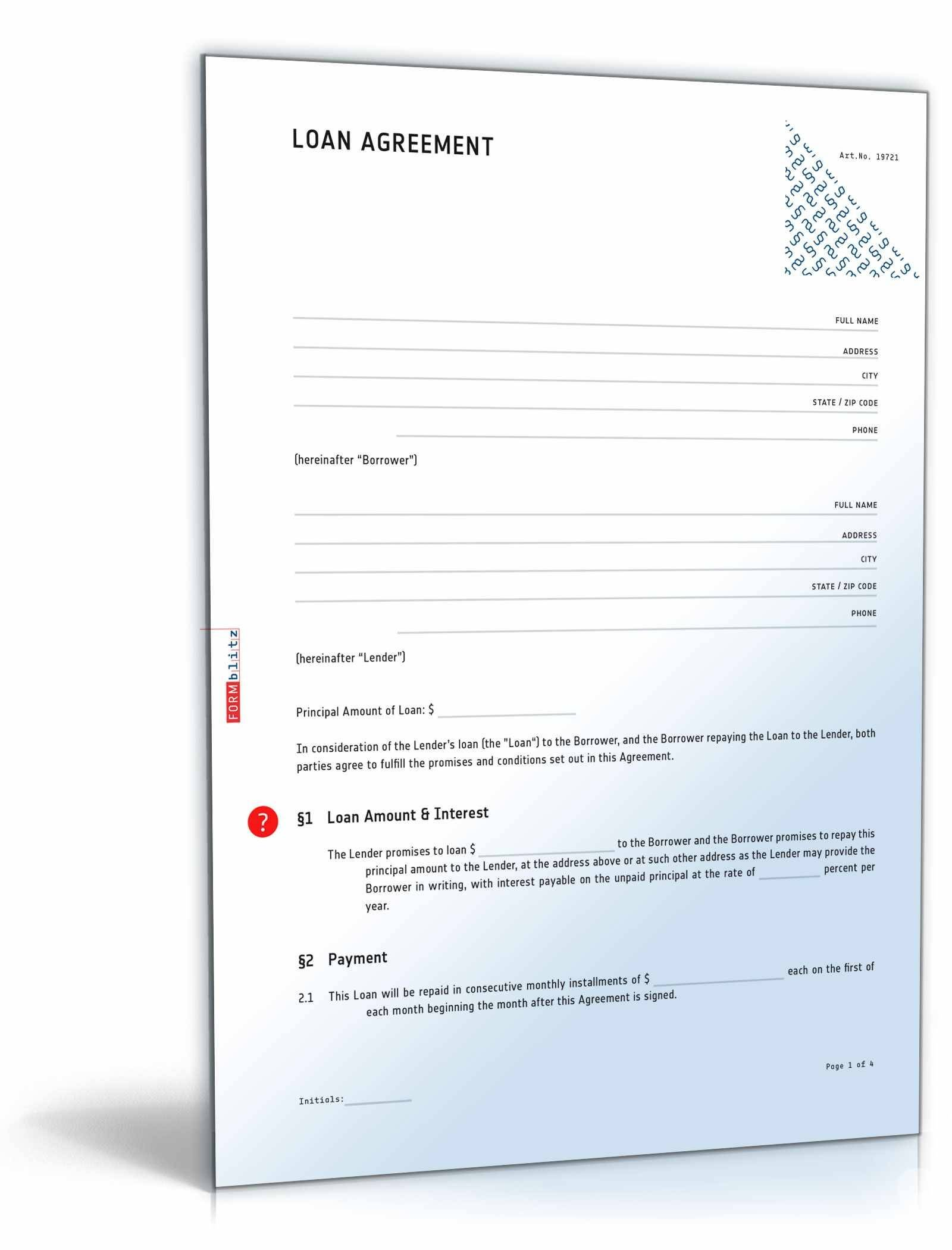Installment Loan Agreement Template