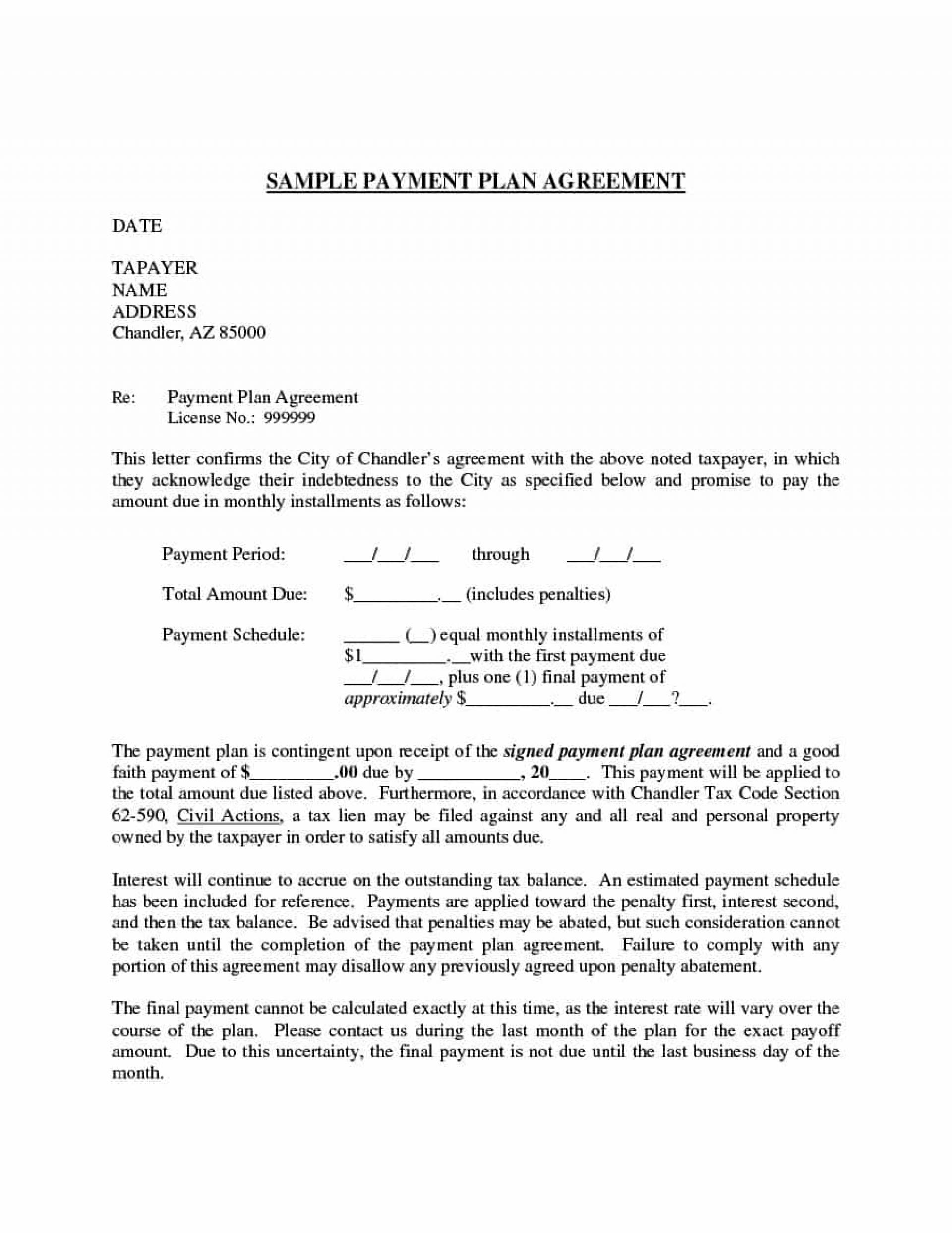 Installment Payment Agreement Template Australia
