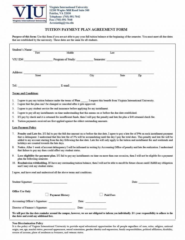 Installment Plan Agreement Template