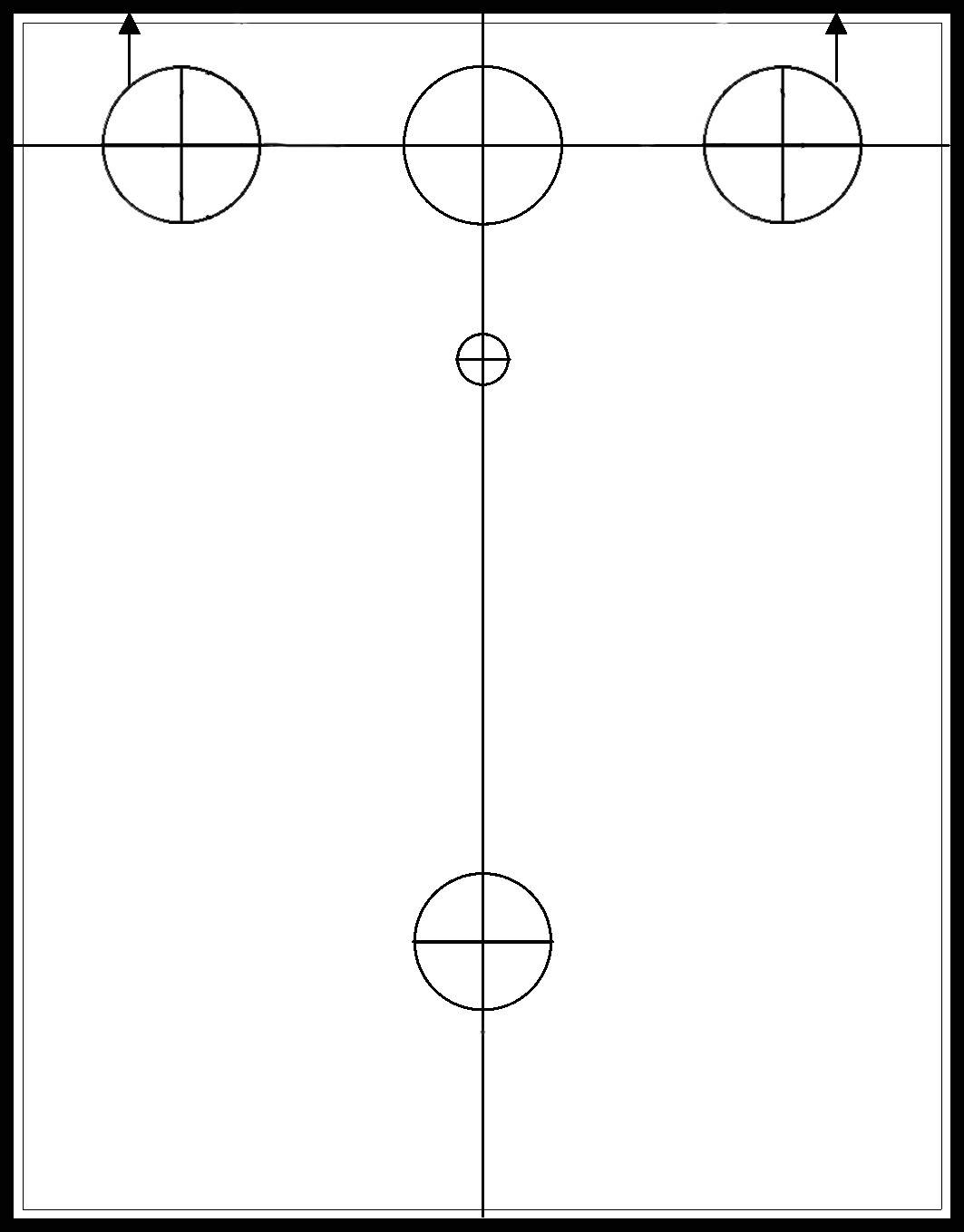 Instrument Hole Drill Template