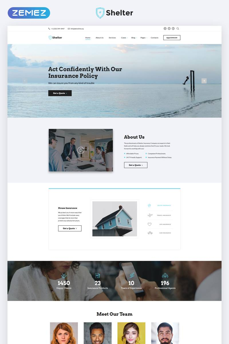 Insurance Agency Website Template