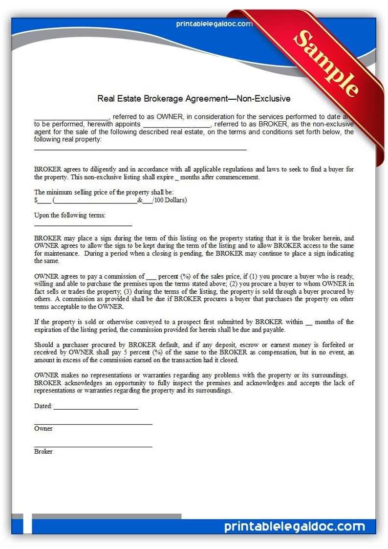 Insurance Brokerage Agreement Template
