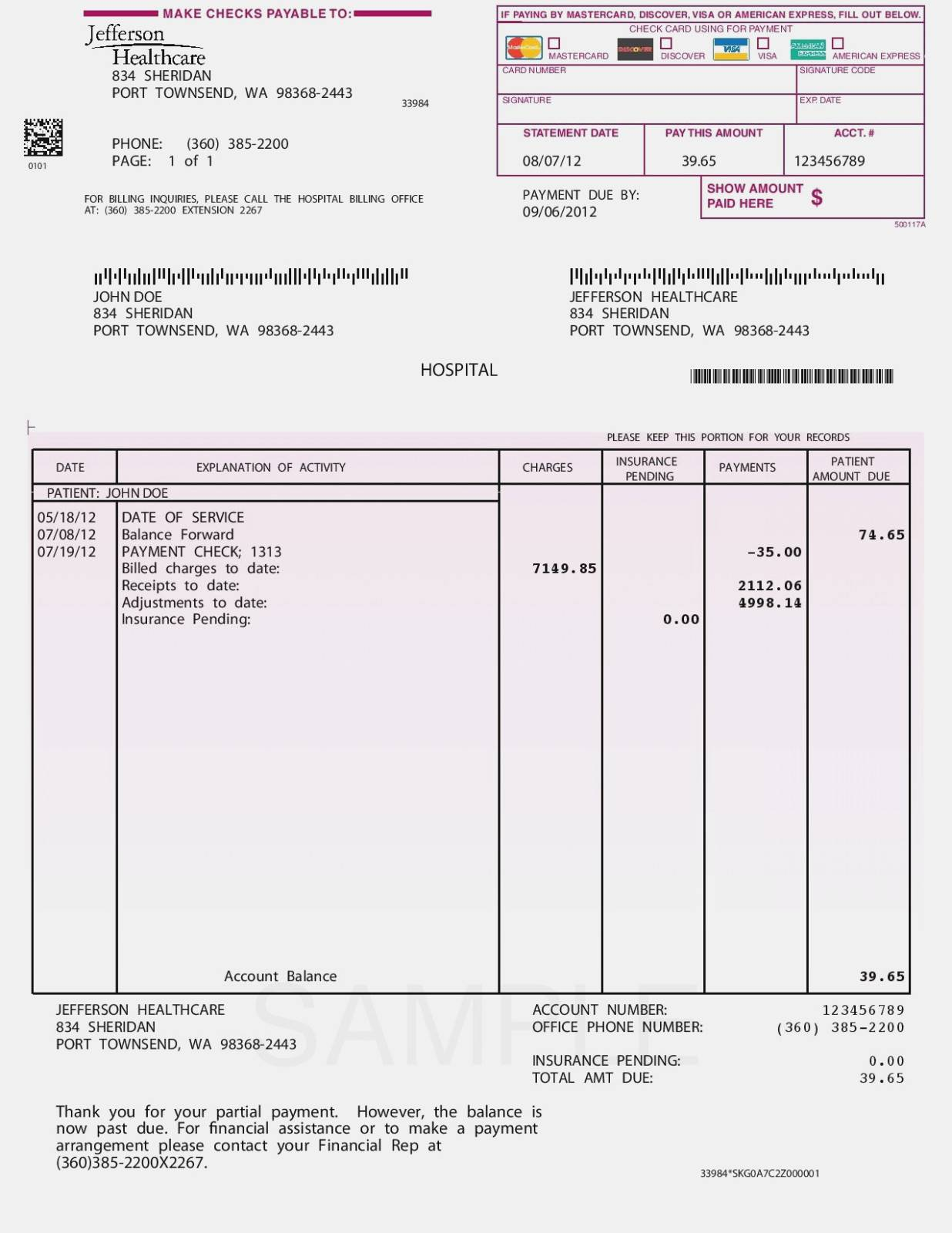 Insurance Policy Invoice Template