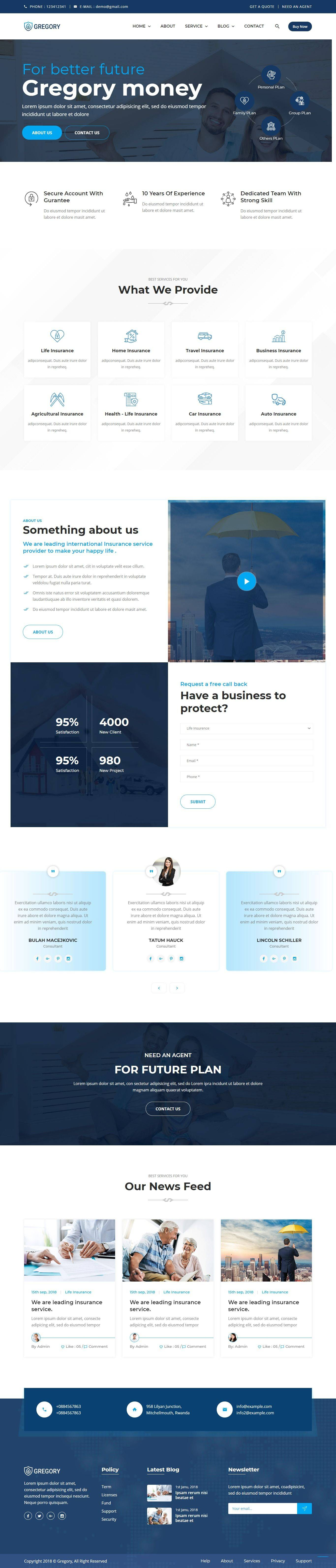 Insurance Website Templates Bootstrap