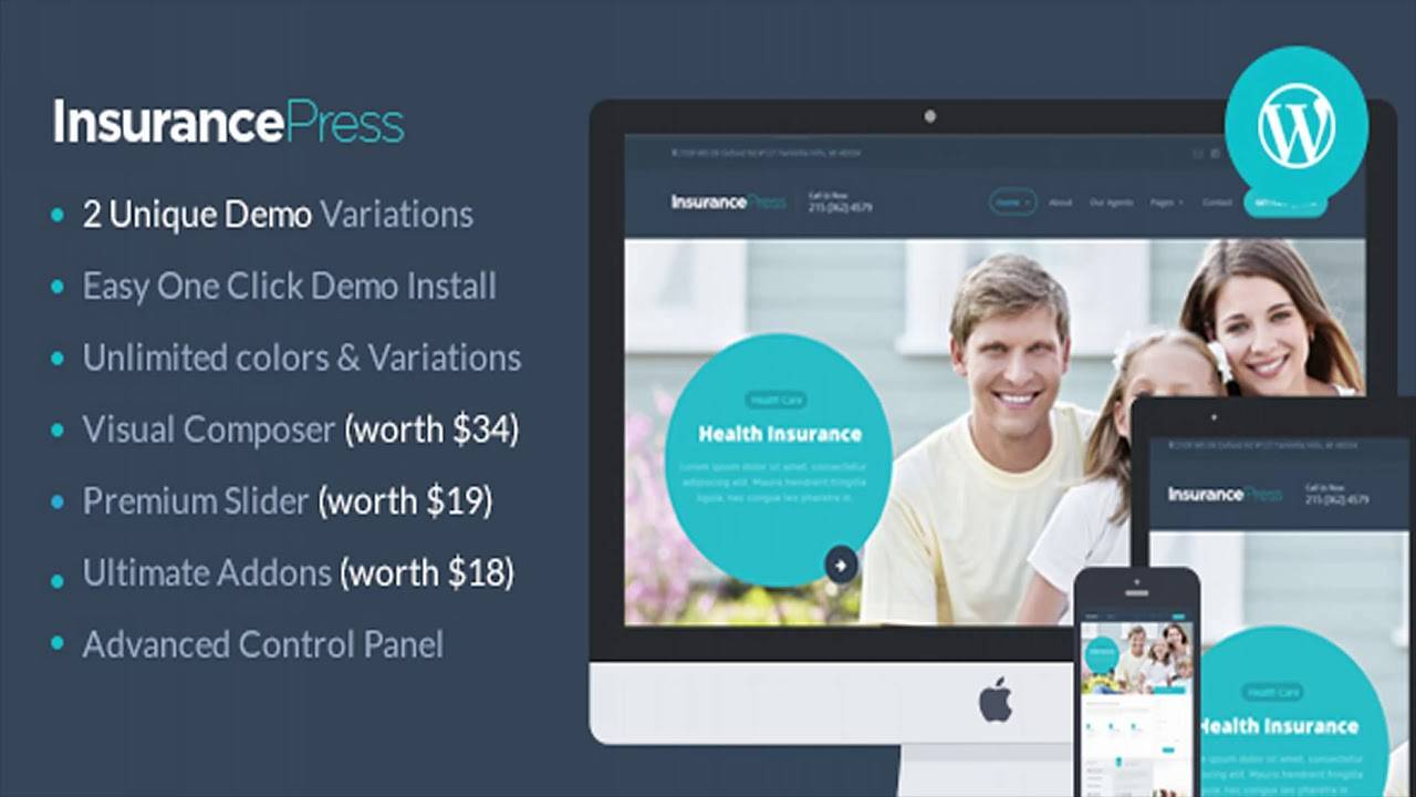 Insurance Website Templates Themeforest