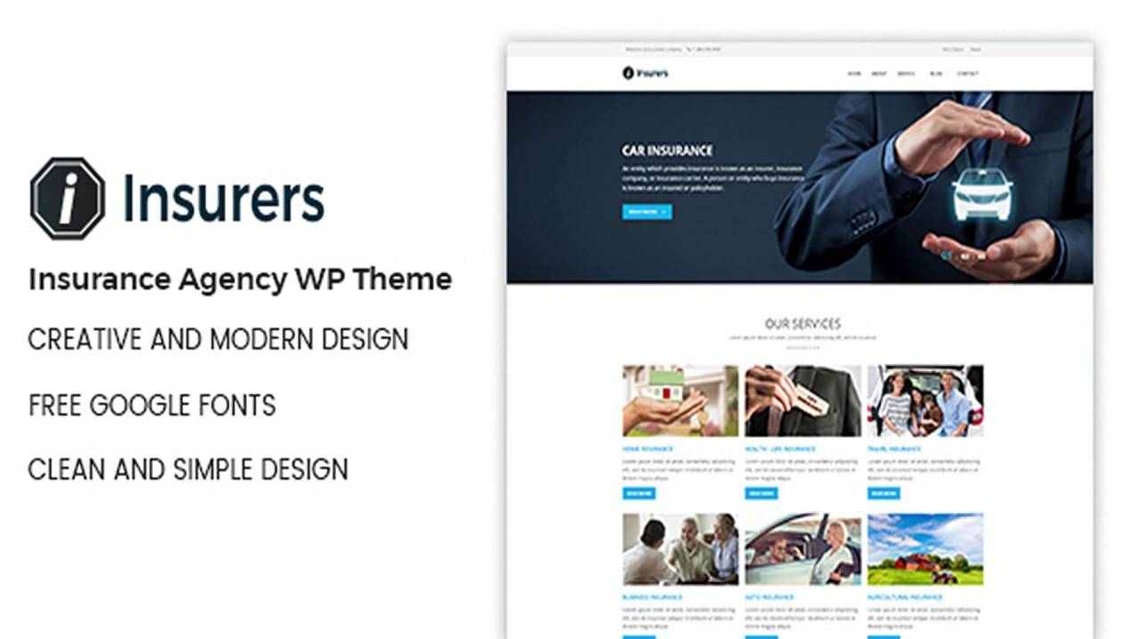 Insurance Website Templates WordPress