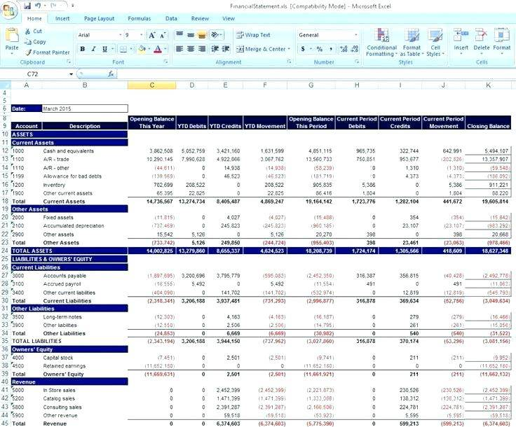Integrated Financial Statements Excel Template
