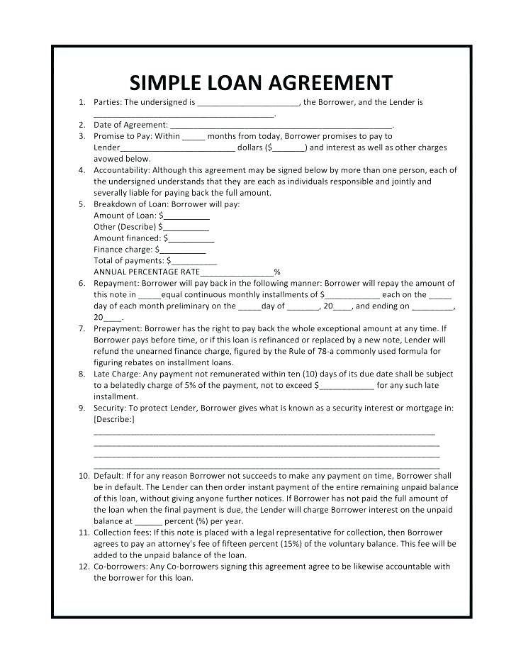 Intercompany Loan Agreement Template Free Download
