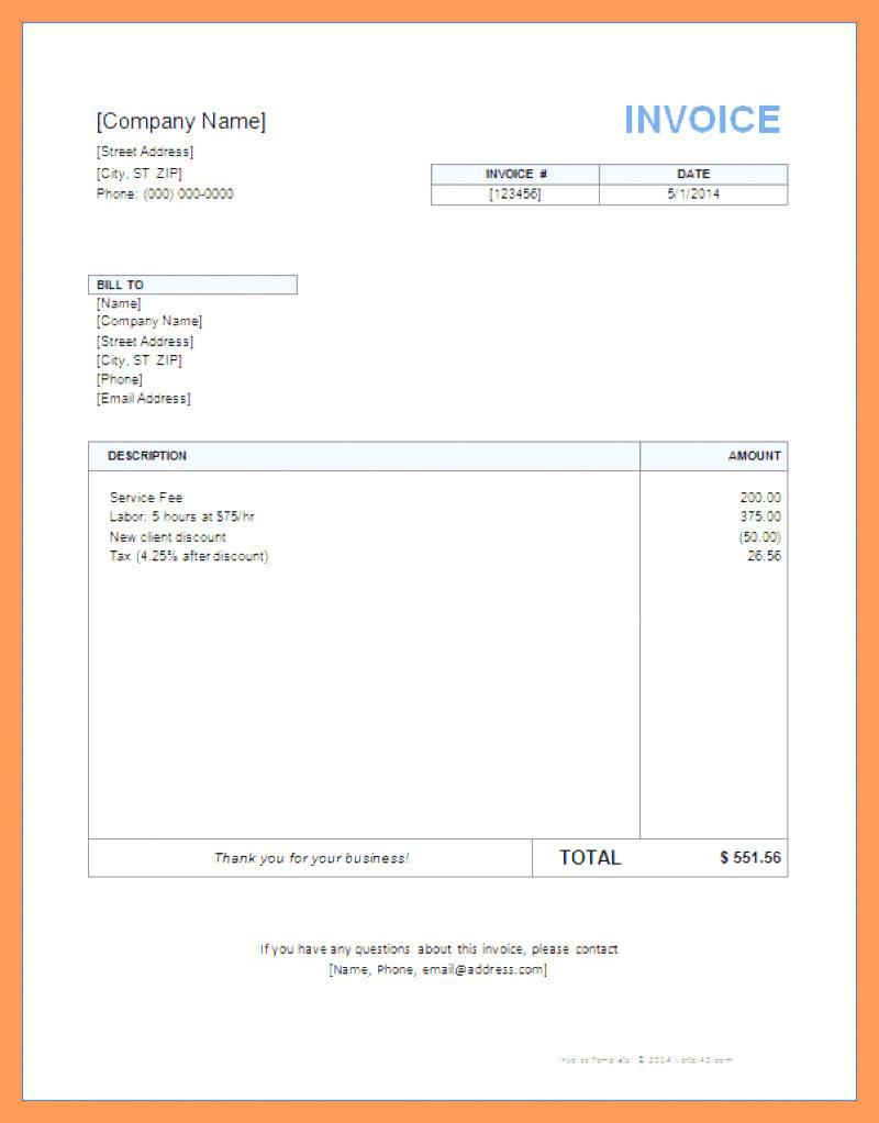 Interest Invoice Template