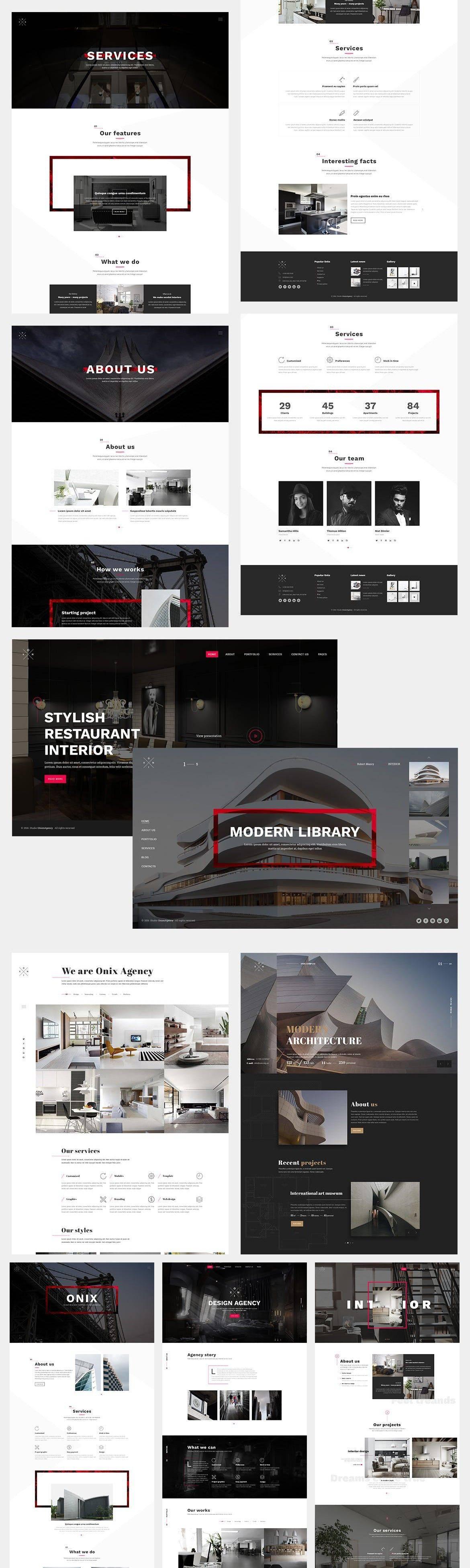Interior Design Portfolio Website Templates