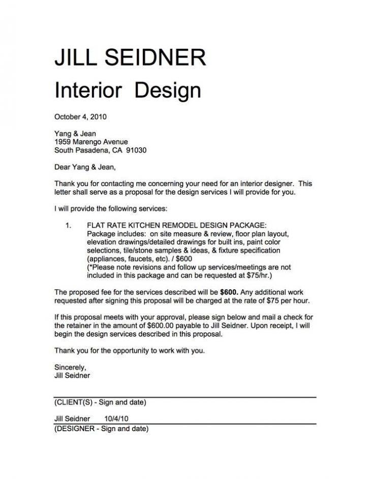 Interior Design Proposal Example