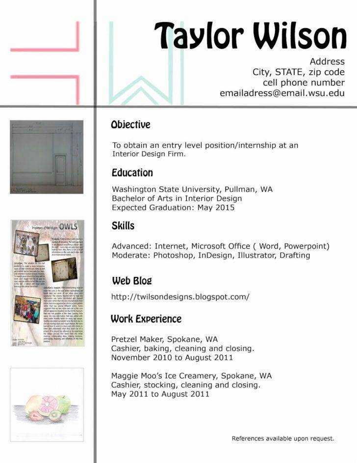 Interior Designer Resume Templates Word