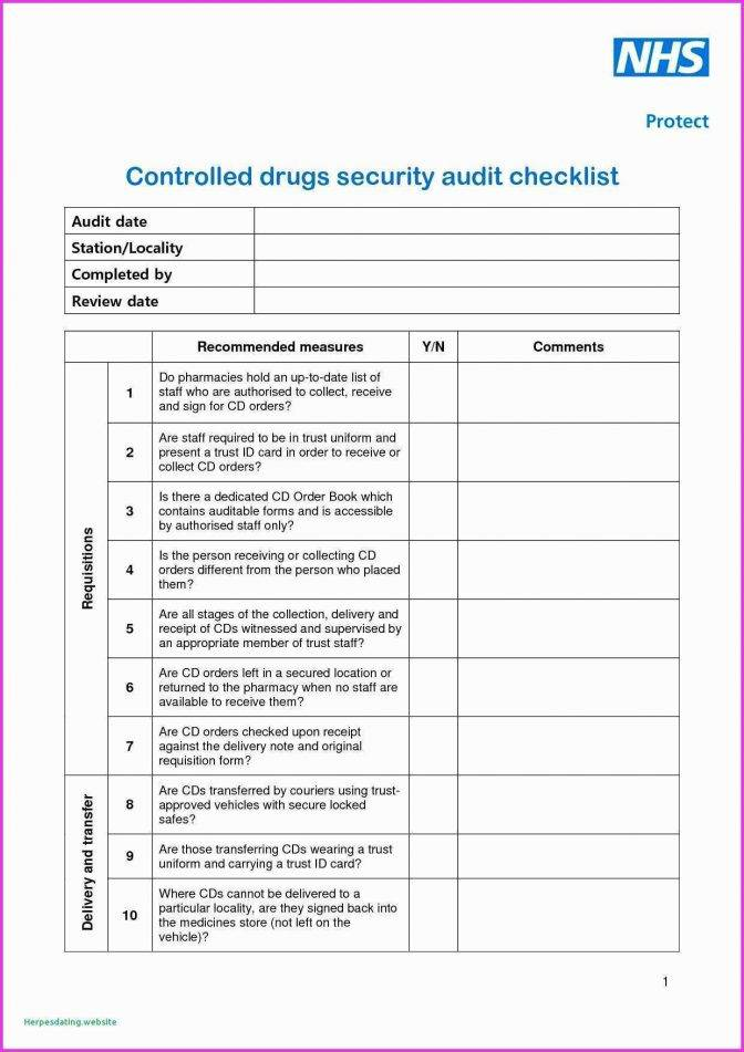 Internal Audit Checklist Template Iso 17025