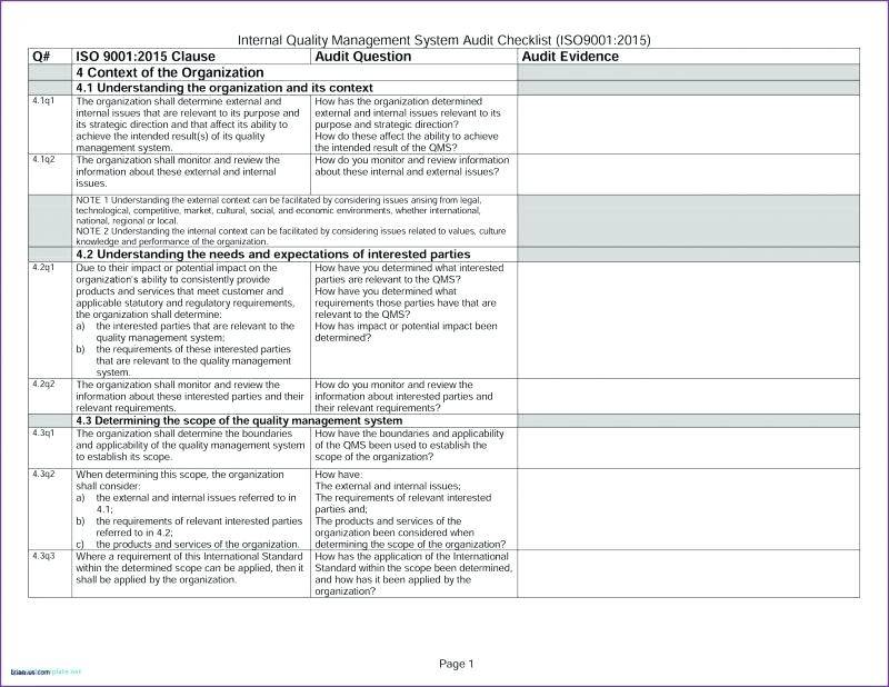 Internal Audit Risk Assessment Template Excel