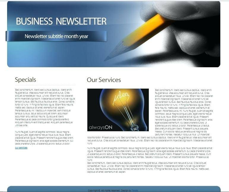 Internal Corporate Newsletter Templates
