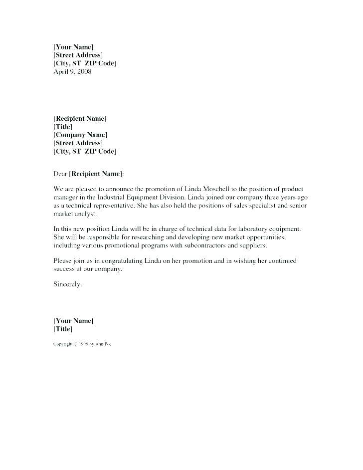 Internal Promotion Announcement Email Template