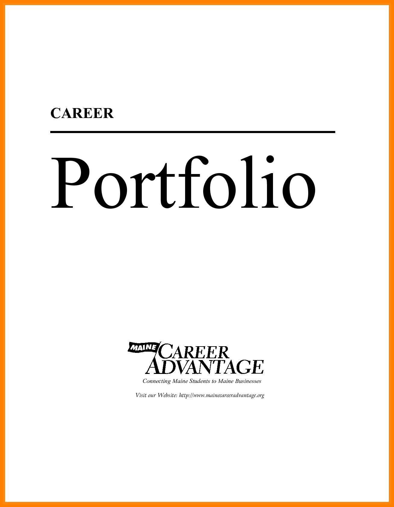 Interview Portfolio Cover Page Template