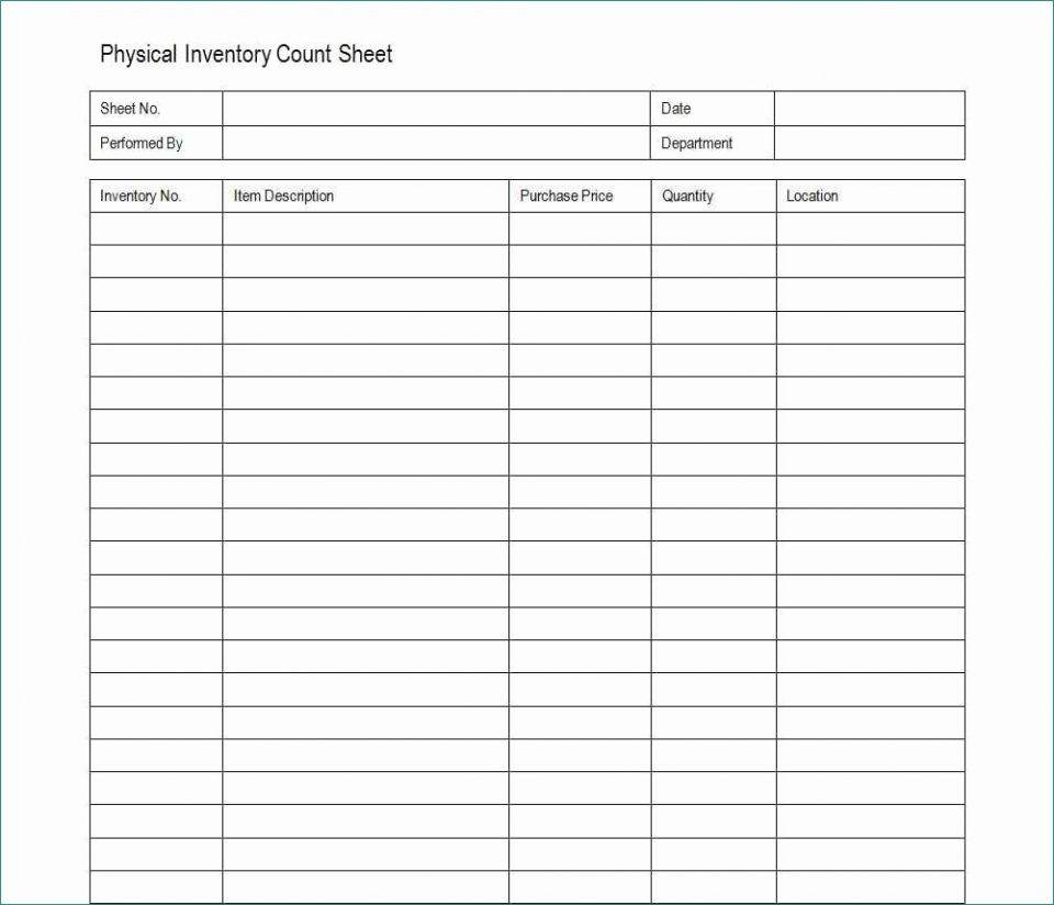 Inventory Count Format