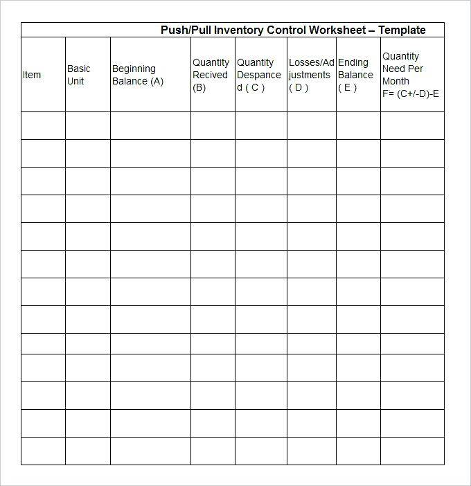 Inventory Sheet Template For Openoffice