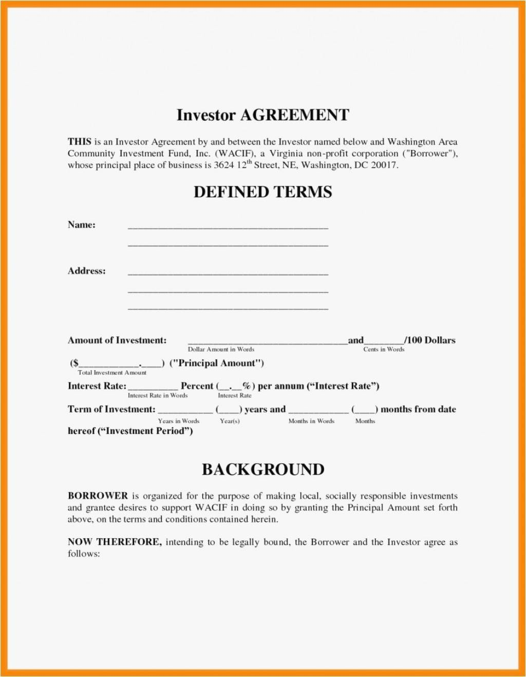 Investment Agreement Template Malaysia