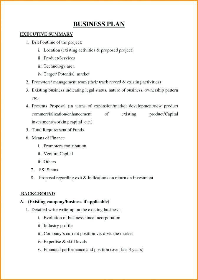 Investment Plan Format