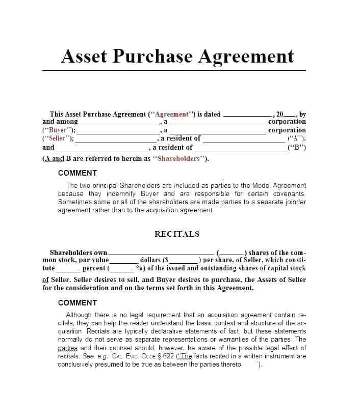 Investor Agreement Template Australia