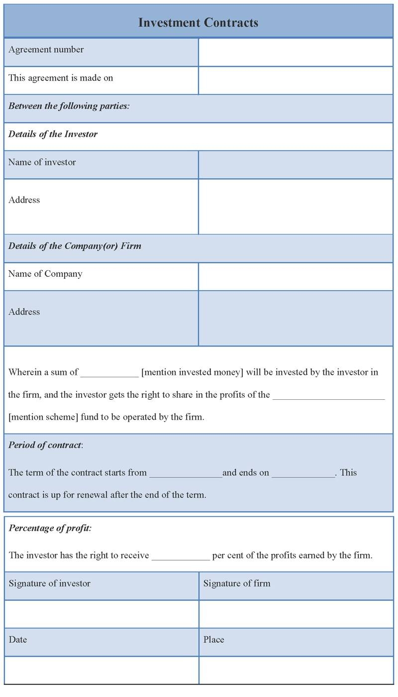 Investor Subscription Agreement Template