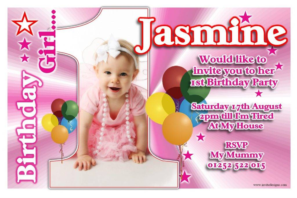 Invitation Card For Birthday Girl Template
