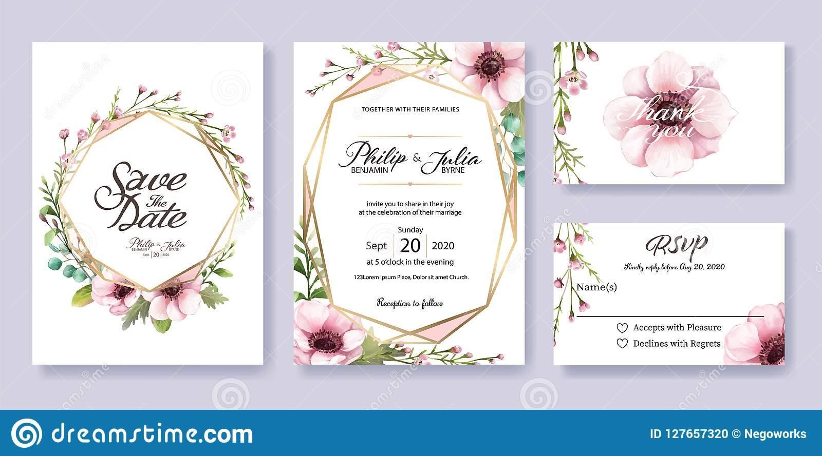 Invitation Card Rsvp Template