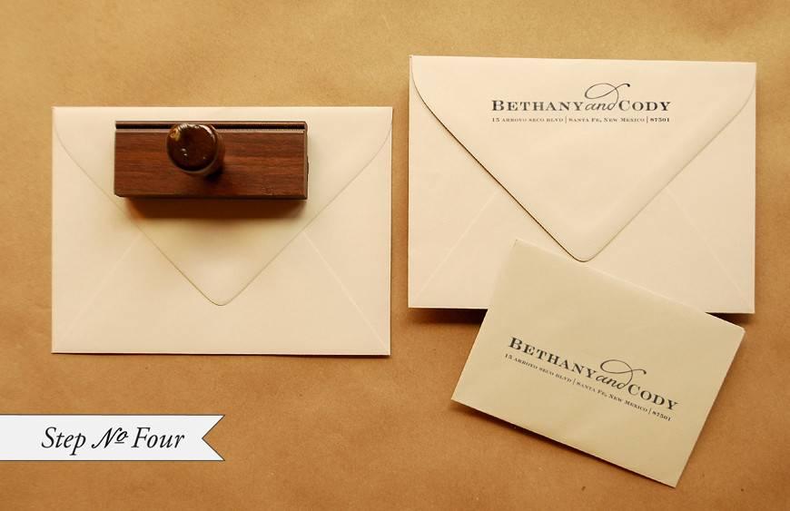 Invitation Envelope Address Template