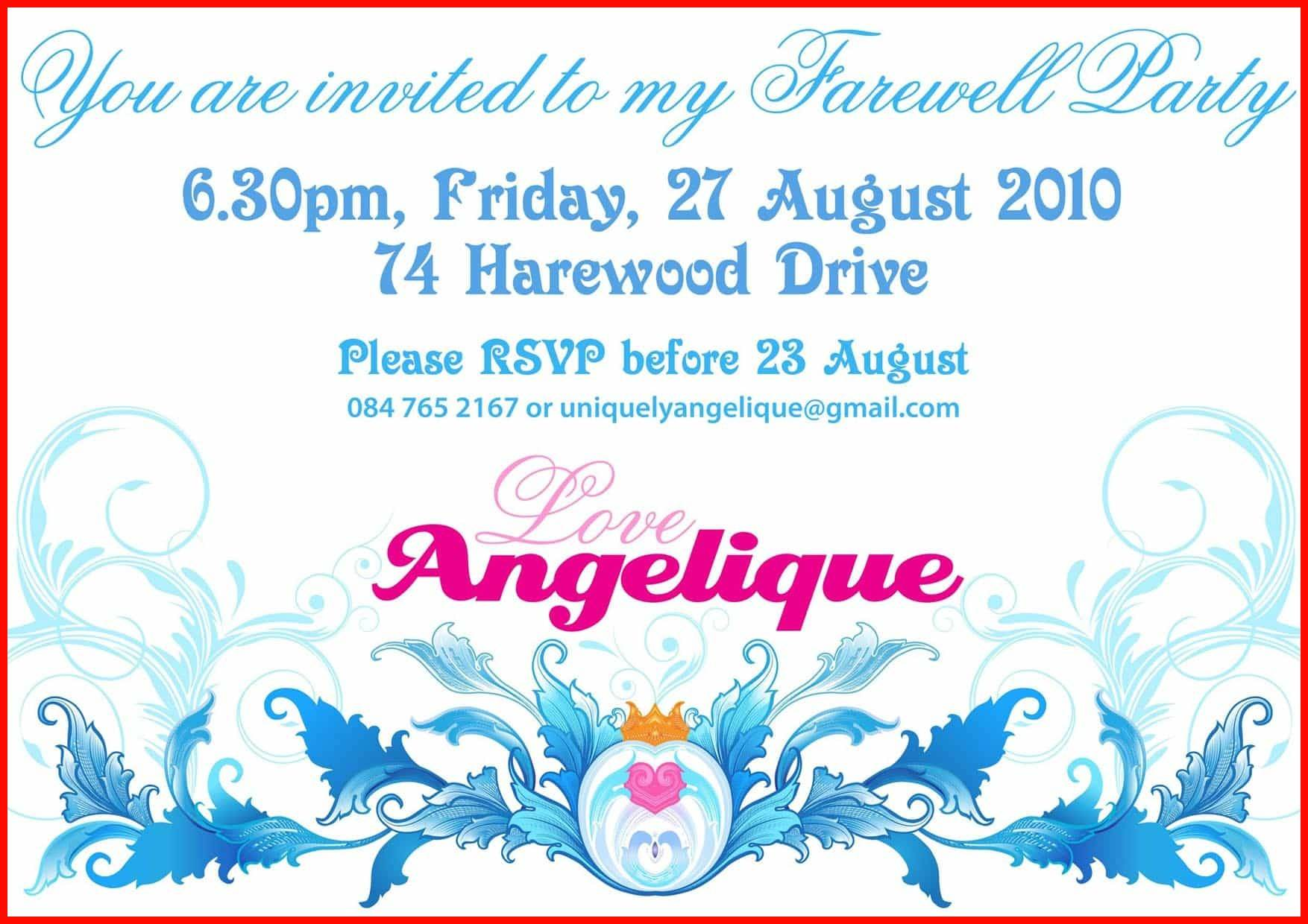 Invitation Farewell Party Templates