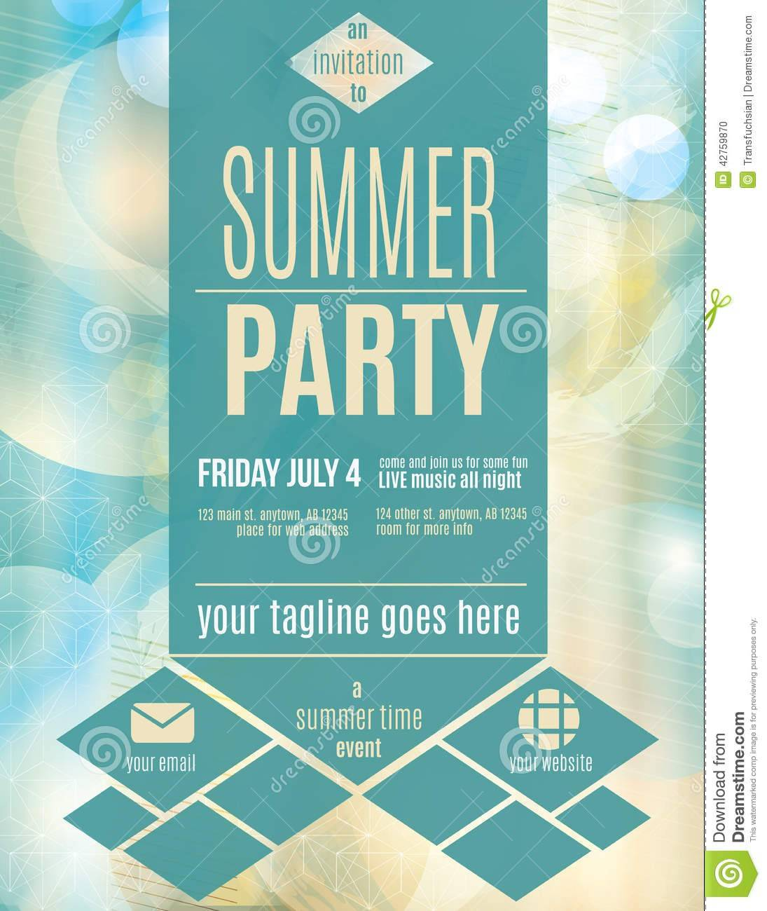 Invitation Flyers Templates Free