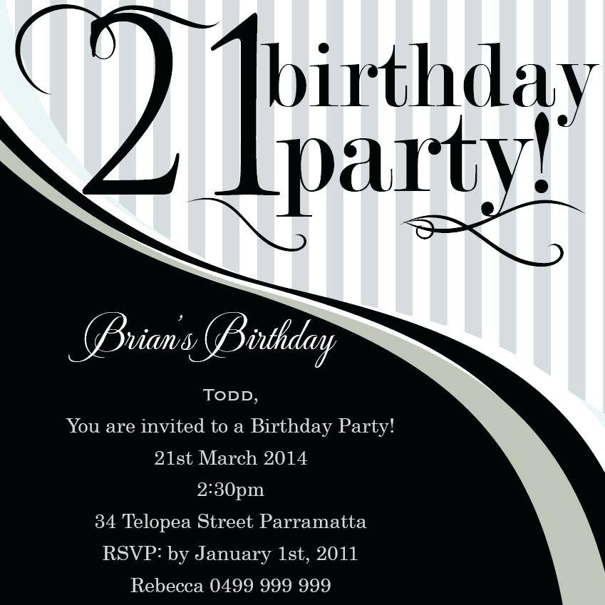Invitation Templates For 18th Birthday Party
