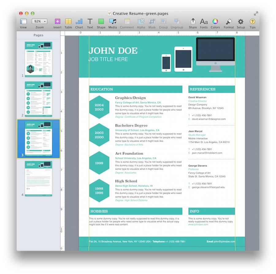 Invitation Templates For Mac Pages