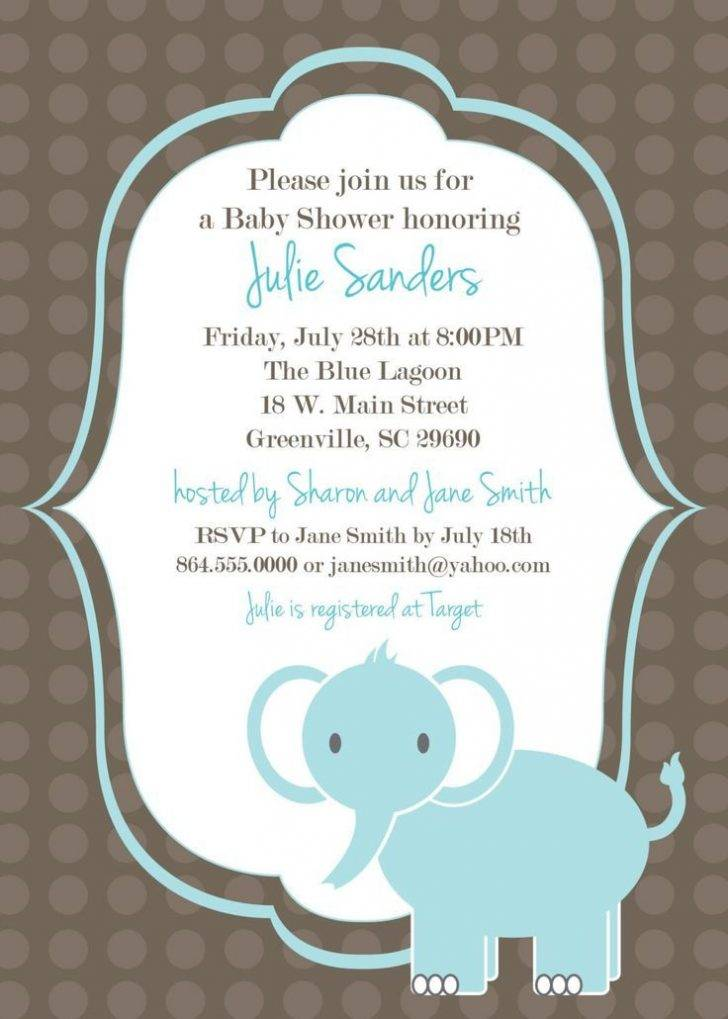 Invitation Templates Free Baby Shower