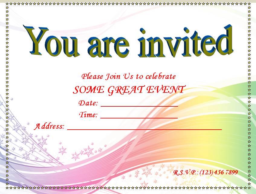 Invitation Templates Free Microsoft Word